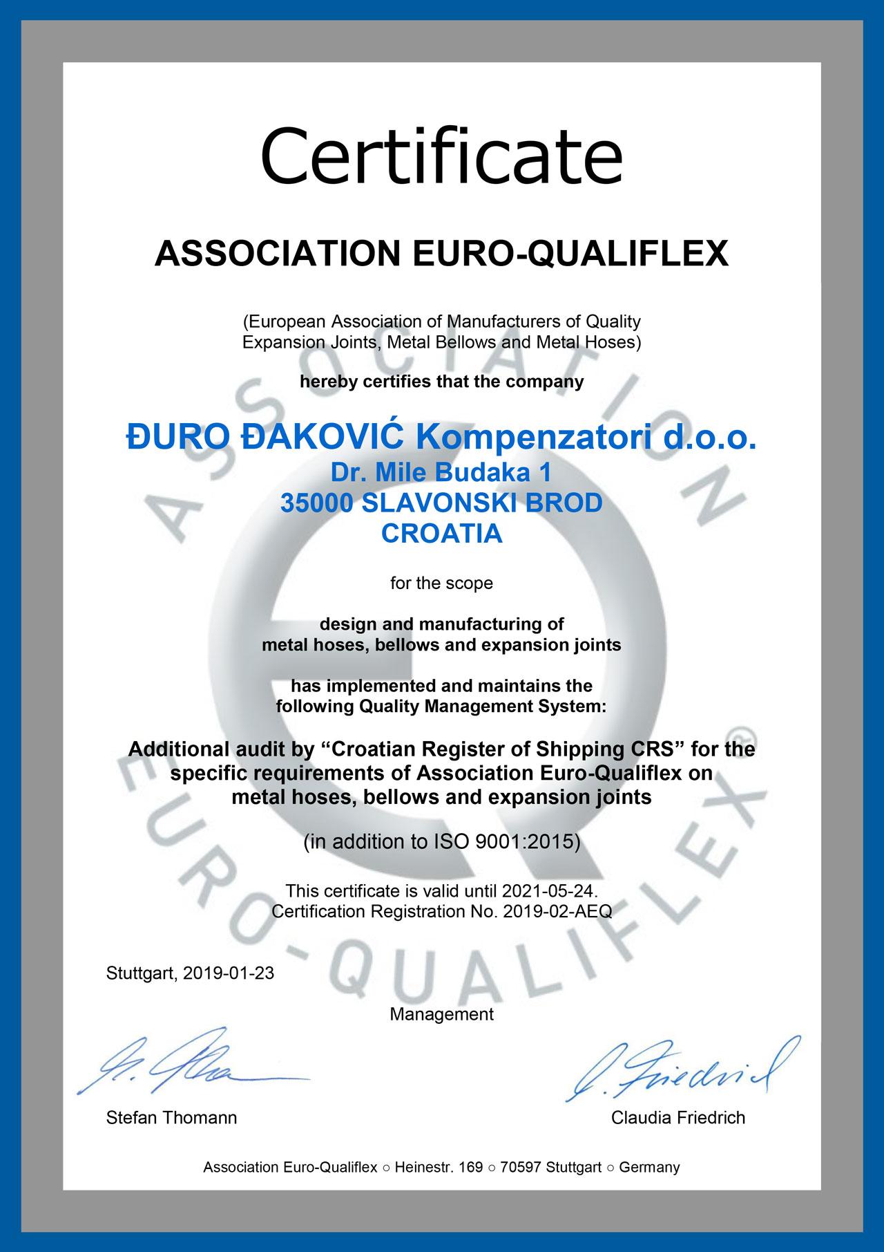 EURO-QUALIFLEX_DDK CERTIFICATE